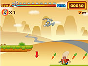 Click to Play Bugs Bunny's Hopping Carrot Hunt