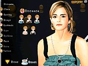 Click to Play Emma Watson Makeover