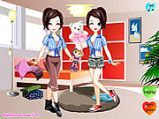 Click to Play Twins Dress Up